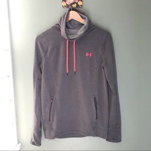 Under Armour Gray & Pink Hoodie Size M